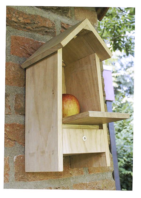 Vogelhuisje met appel